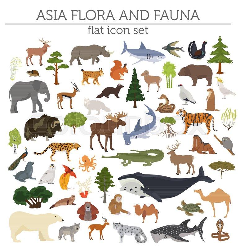 Картинки флора и фауна африки для наклеек