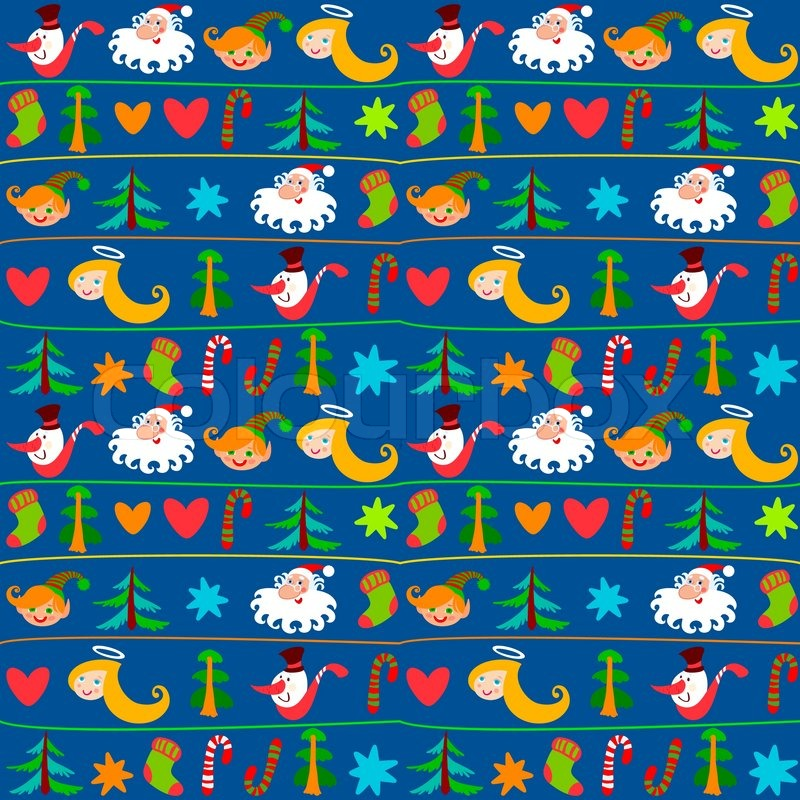 christmas background new years wallpapers wrapping paper stock vector colourbox - Christmas Paper
