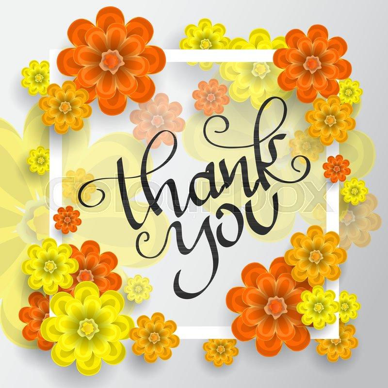Dank, rahmen, sommer | Vektorgrafik | Colourbox