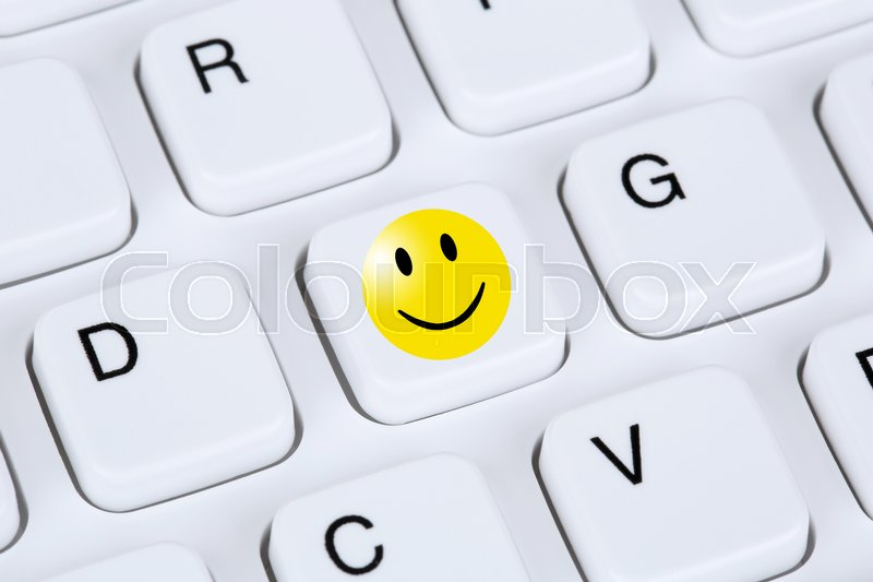 Happy Smiley Symbol Assessment Feedback Service Quality On Computer