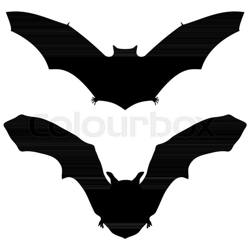 bat silhouette on white background for halloween vector illustration stock vector colourbox