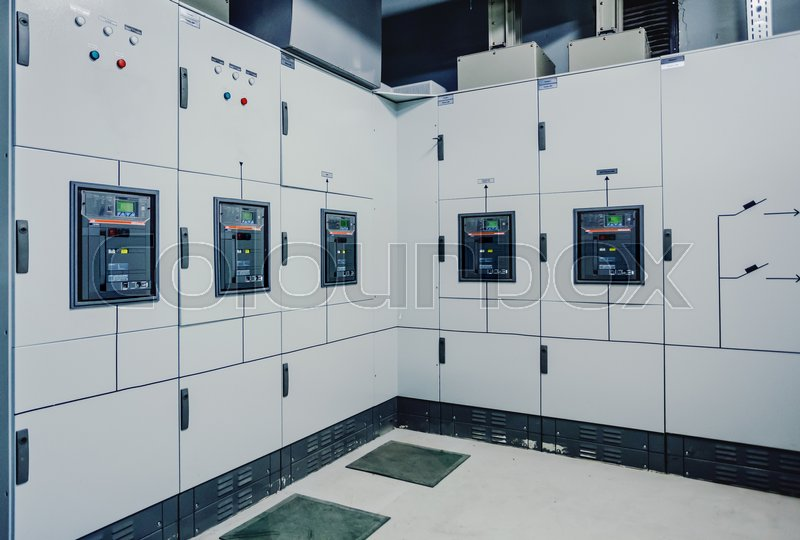 low voltage switchgear at power plant electrical