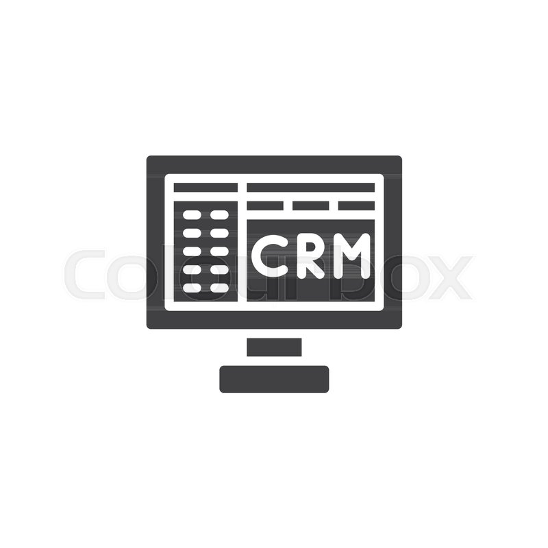 Crm Icon Vector Filled Flat Sign Solid Pictogram Isolated On White