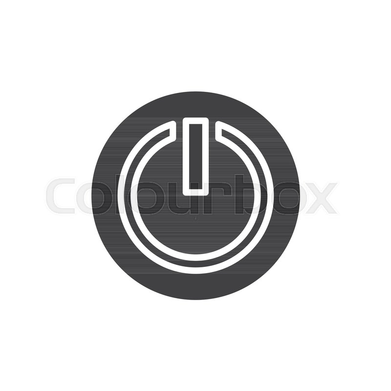 Power Off Or Power On Button Icon Vector Filled Flat Sign Solid