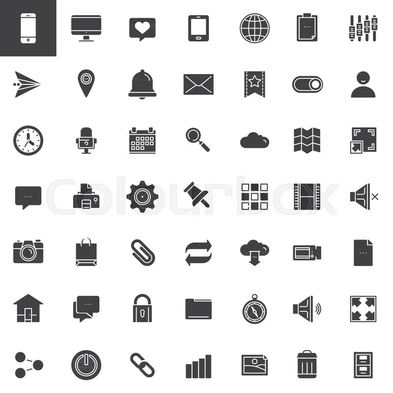 Stock Vector Of U0027Web Tools Icons Set, Modern Solid Symbol Collection,  Filled Pictogram