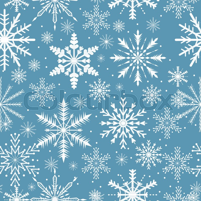 snowflakes seamless pattern frosty repeating texture christmas and
