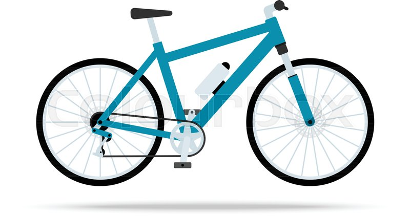 blue bicycle flat icon bike vector isolated on white background rh colourbox com vector bike frame vector bike icon free download