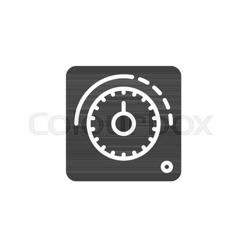 thermostat icon vector filled flat sign solid pictogram isolated