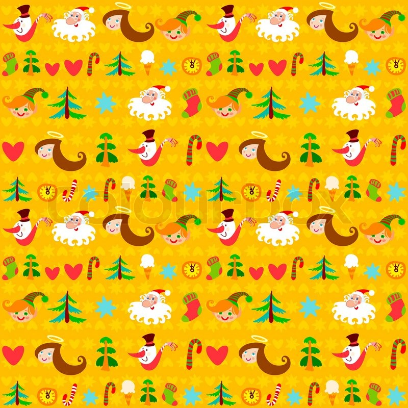 Stock vector of 'Christmas background, New Year's wallpapers, wrapping ...