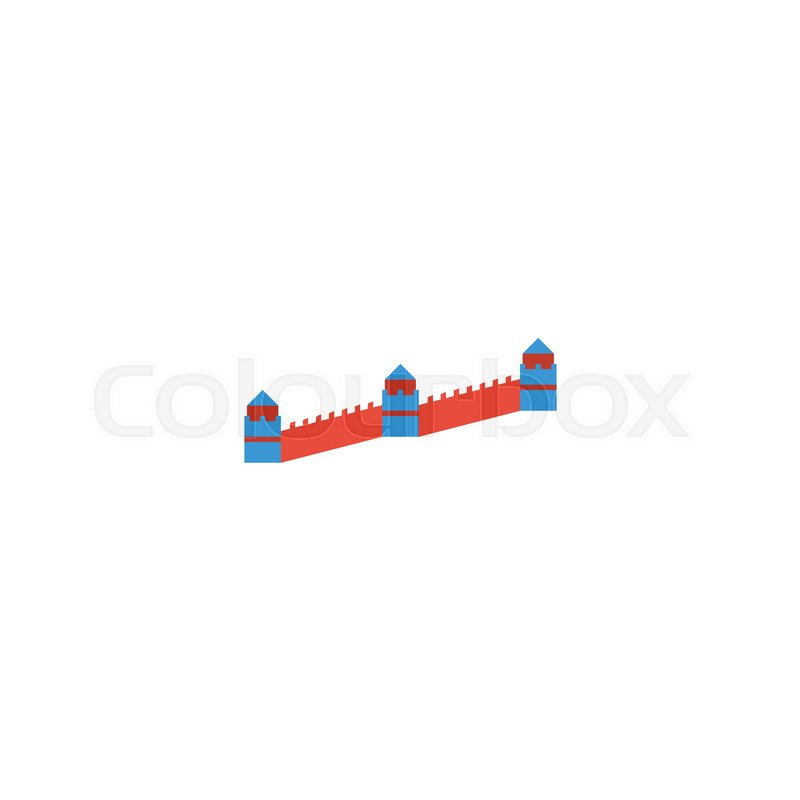 Flat Icon Great Wall Element Vector Illustration Of Flat Icon China