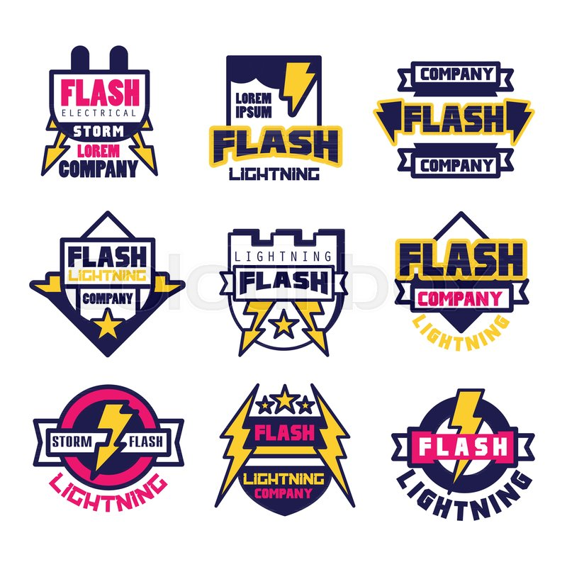 Flash Electrical Storm Company Logo Design Template Elements And