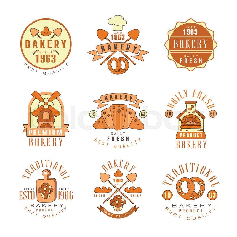 Vintage Wheat Logo Collection: Premium Bakery Logo Design, Vintage ...
