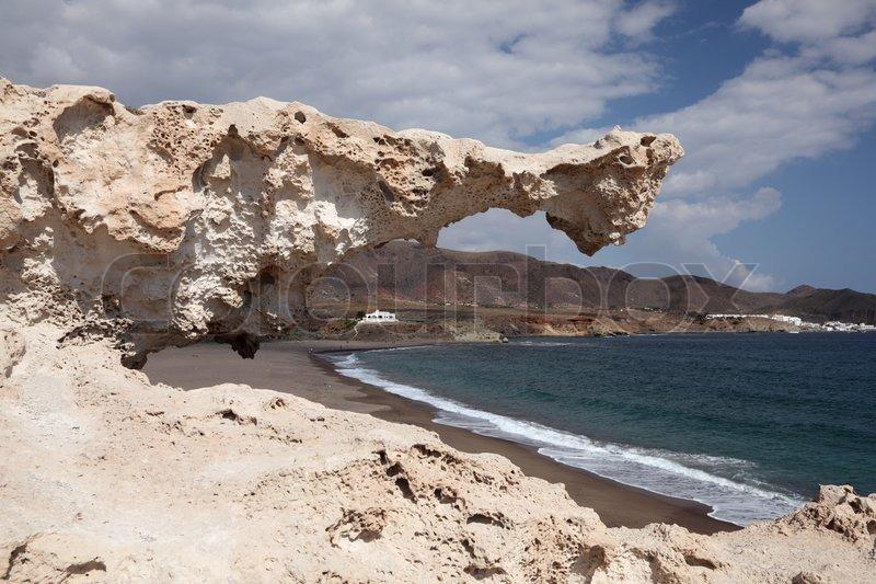 Rock at cabo de gata almeria spain stock photo colourbox for Cabo de gata spain