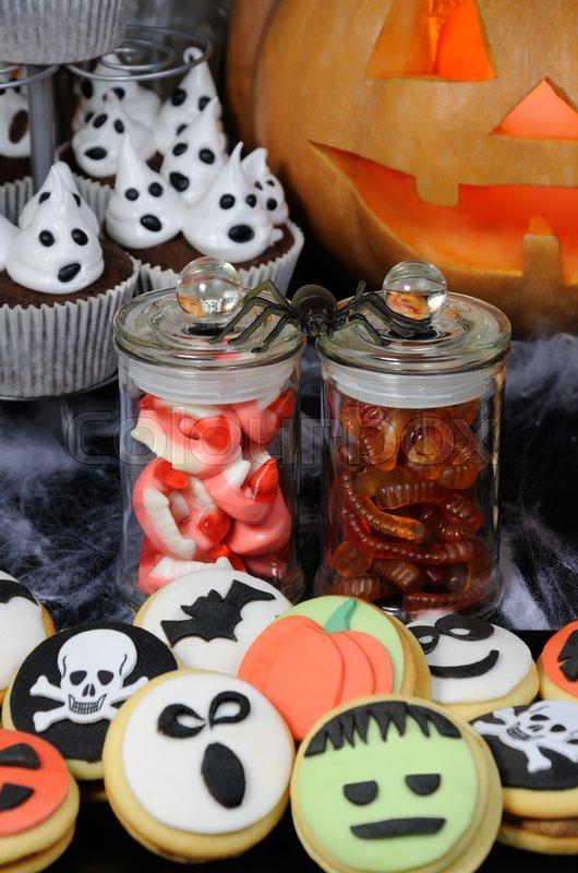 Halloween Udsmykning Nosh Stock Foto Colourbox