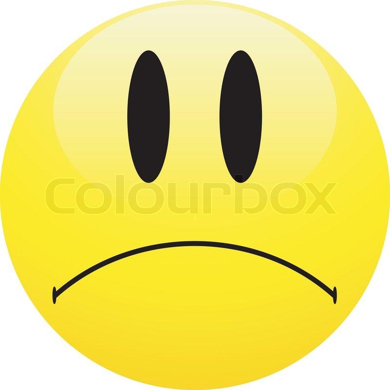Sad smiley Ball on Isolated White     | Stock vector | Colourbox