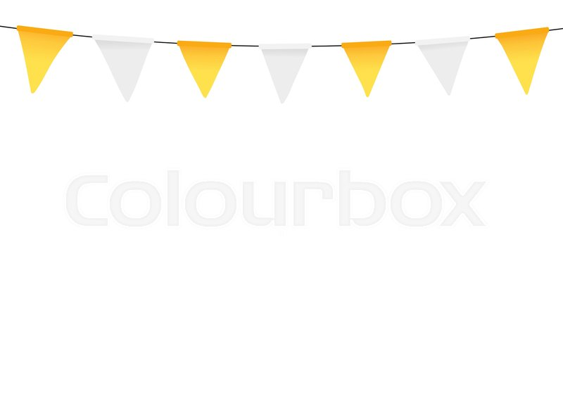 Thanksgiving Bunting Flags Holiday Decorations Vector Illustration Stock Vector Colourbox