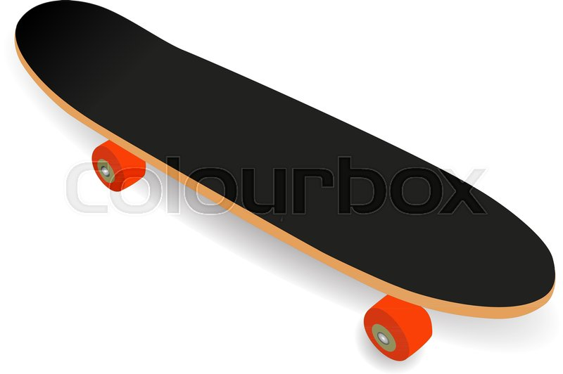 d871bb4820282 Simple Skateboard isolated on white