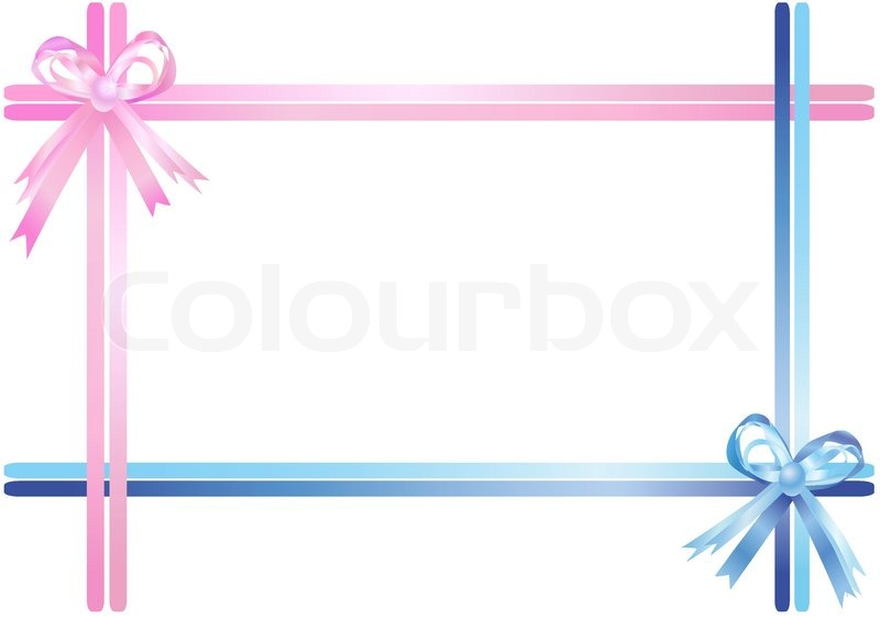 pink and blue ribbons isolated on a white background vector illustration stock vector colourbox. Black Bedroom Furniture Sets. Home Design Ideas