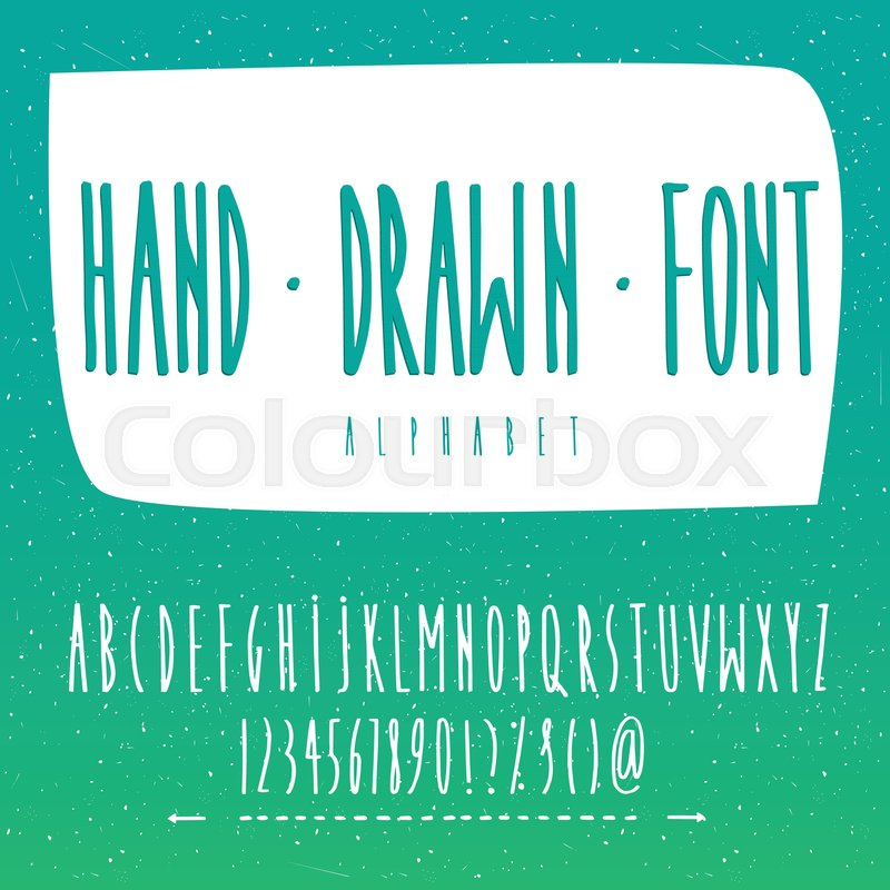 Handwritten Vector Font Contains Set Of Capital Letters Of English