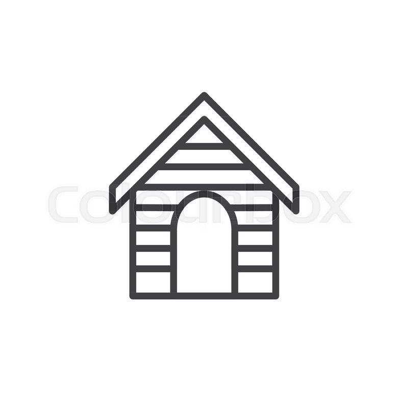 house roof outline clipart. dog kennel line icon outline vector sign linear style pictogram isolated on white house symbol logo illustration editable stroke stock roof clipart