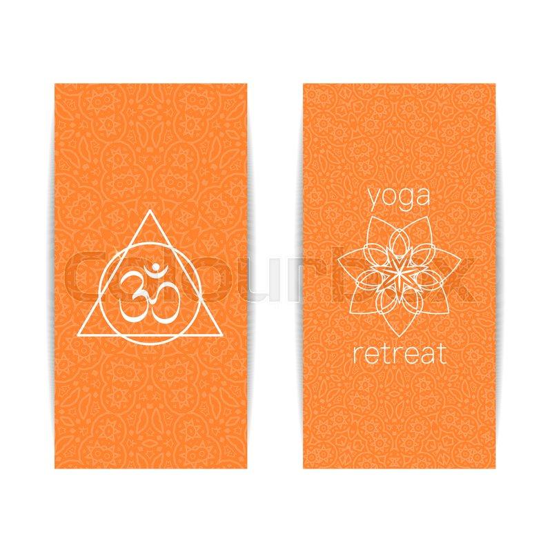 Yoga Banner Template Set Of Vertical Stock Vector Colourbox