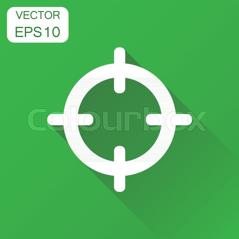 target aim icon business concept stock vector colourbox colourbox