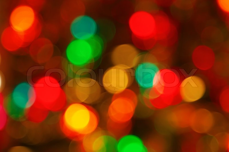 blurred christmas lights as background stock photo colourbox - Blurred Christmas Lights