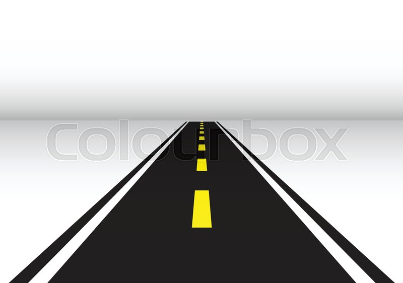 road long perspective vector illustration isolated template stock