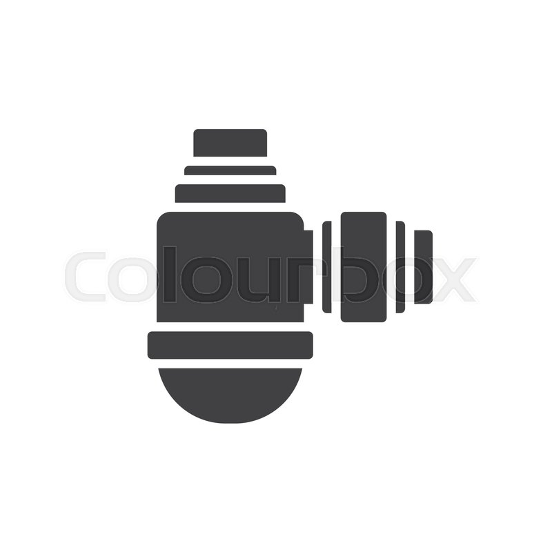 Water Filter Icon Vector Filled Flat Sign Solid Pictogram Isolated