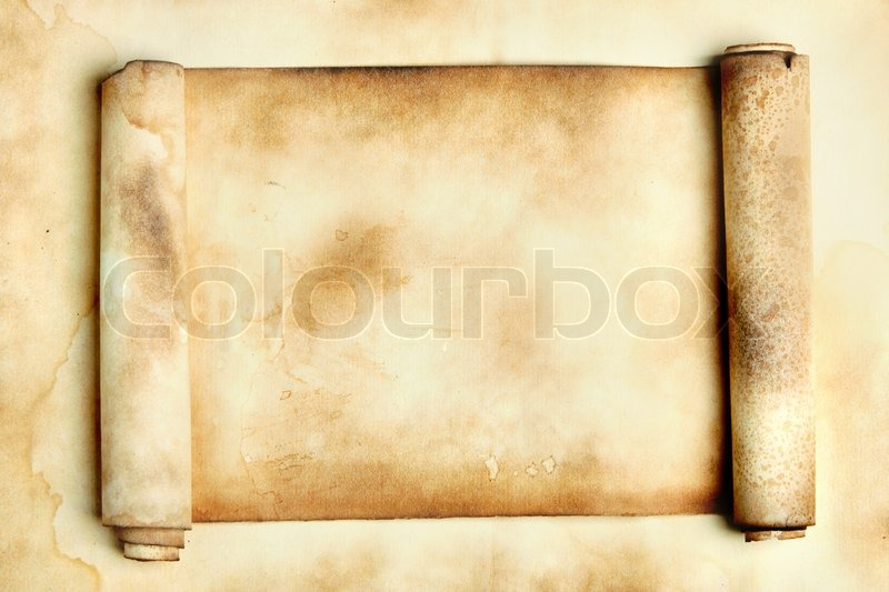 ancient scroll may be used as background stock photo