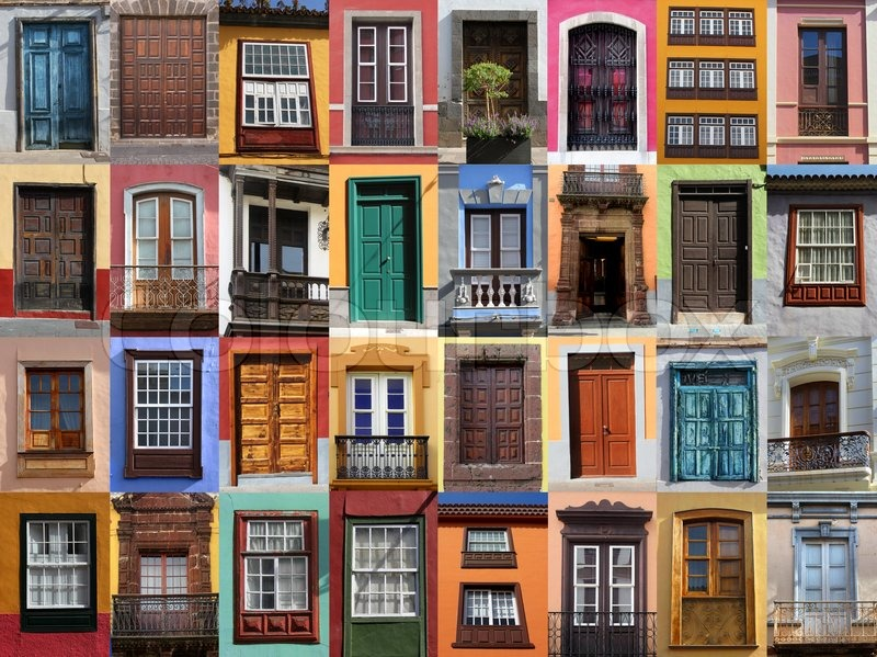 Colorful living - European doors and windows Mediterranean style | Stock Photo | Colourbox & Colorful living - European doors and windows Mediterranean style ...