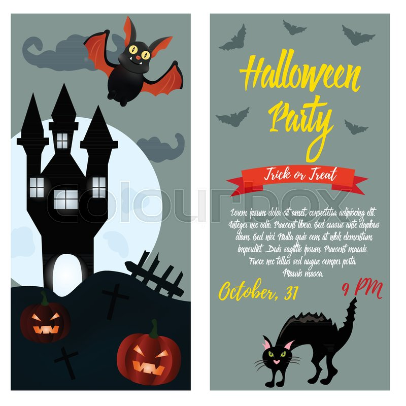halloween party invitation template halloween background with