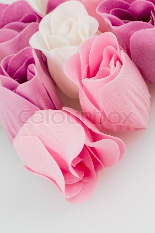 pink lila und wei sch ne luxus seife rosen hintergrund stockfoto colourbox. Black Bedroom Furniture Sets. Home Design Ideas
