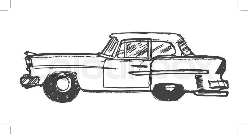 Auto, schema, sinnbild | Vektorgrafik | Colourbox