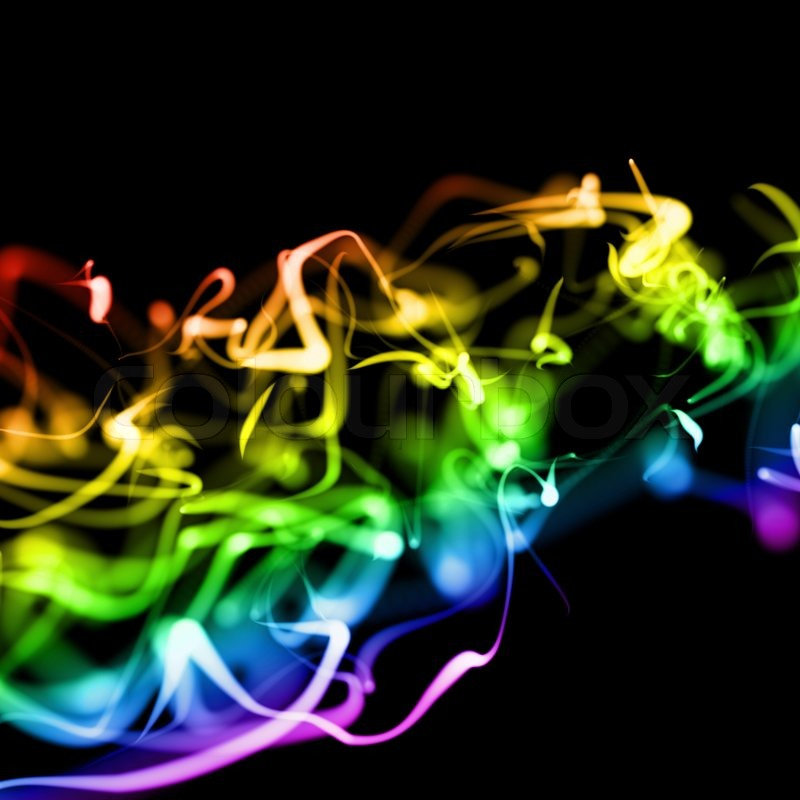 Bright Colorful Wavy Smooth Neon Stock Image Colourbox