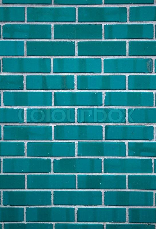 Blue Rectangular Ceramic Tiles Seamless Texture Stock