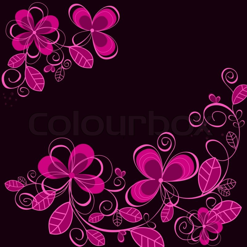 purple floral background for textile or invitation card