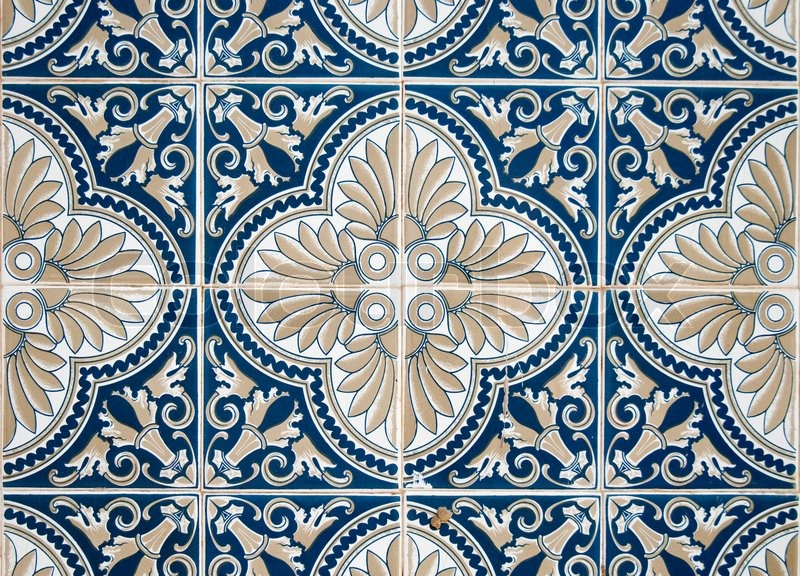 detail of portuguese glazed tiles stock photo colourbox. Black Bedroom Furniture Sets. Home Design Ideas