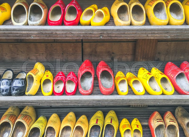 Dutch Wooden Clogs In Amsterdam The Stock Image Colourbox