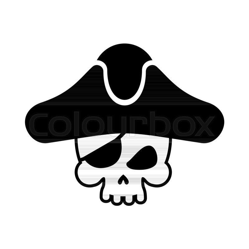 Pirate skull logo  head of skeleton       Stock vector   Colourbox