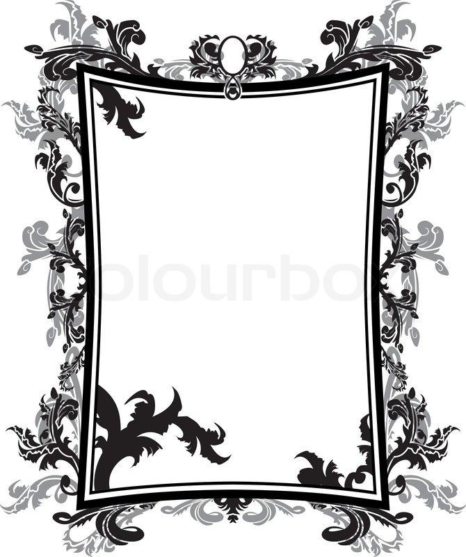 Ornate vintage frame stencil | Stock Vector | Colourbox