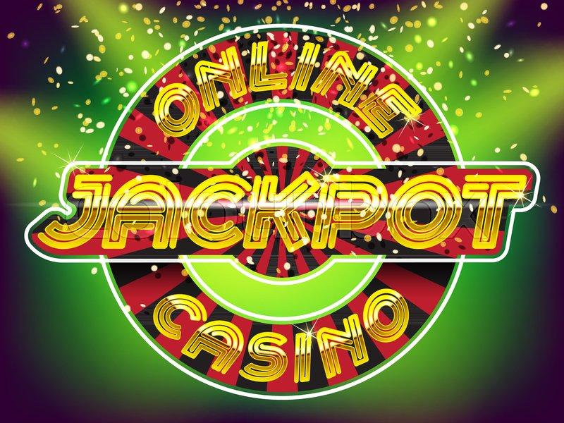 Online casino jackpot lettering. Gold ... | Stock vector | Colourbox
