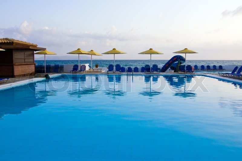Swimming pool at the hotel in the ... | Stock image | Colourbox