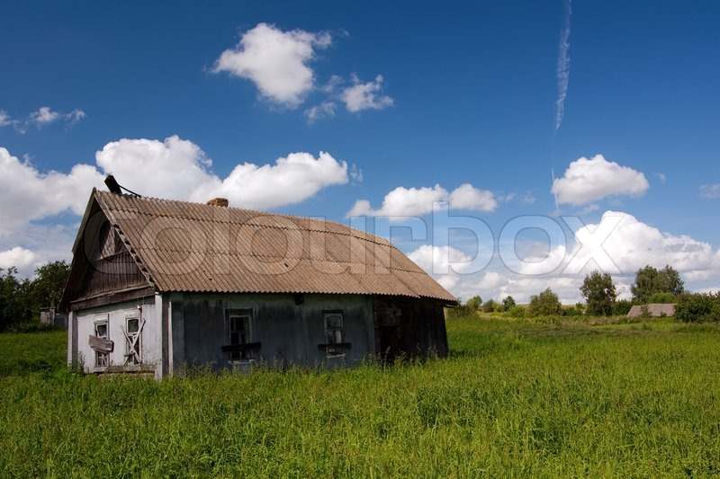 Derelict old house in the field | Stock Photo
