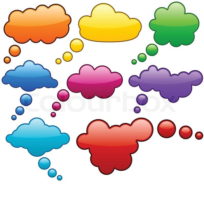 Vector color speech bubbles | Stock Vector | Colourbox