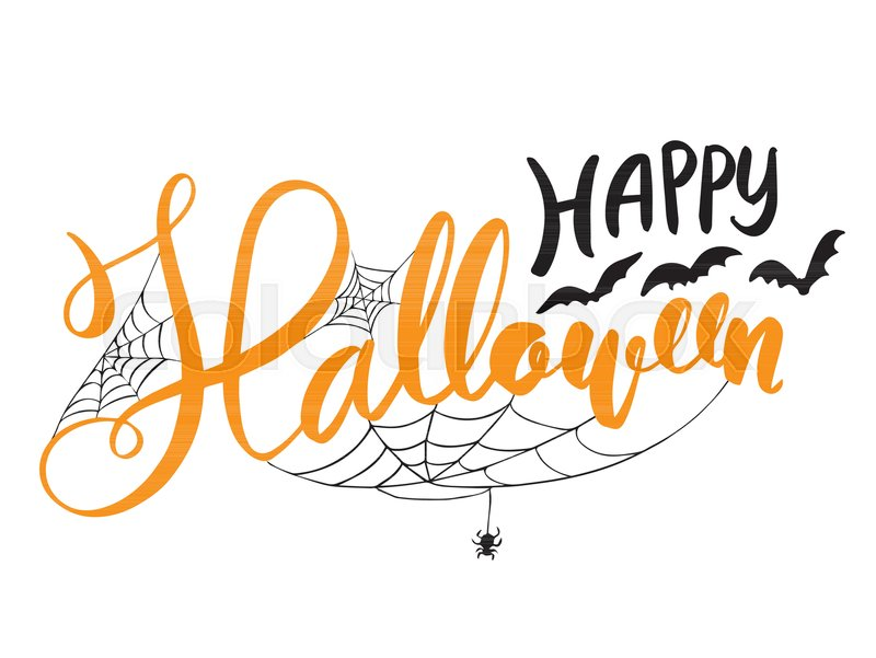 Happy Halloween Vector Lettering Stock Vector Colourbox