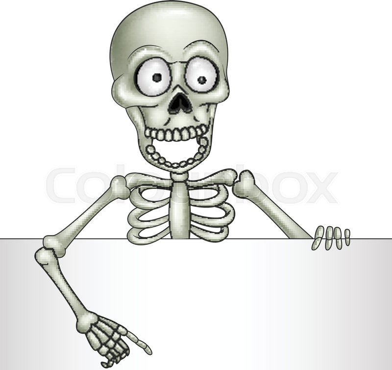 Skelett, happy, clipart | Vektorgrafik | Colourbox
