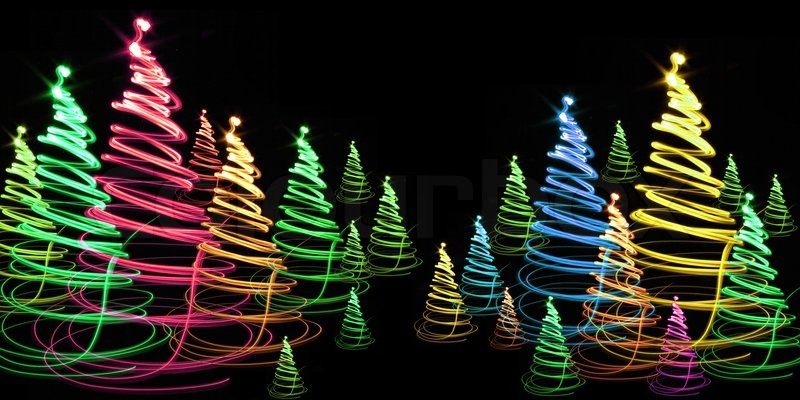 Nice Christmas Trees nice christmas tree from the colors lights | stock photo | colourbox