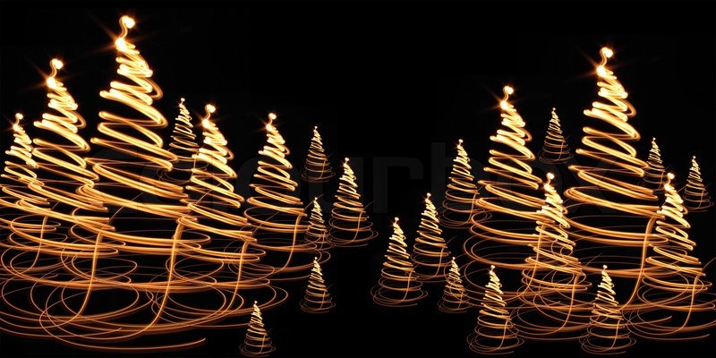 Nice christmas tree from the colors lights | Stock Photo | Colourbox