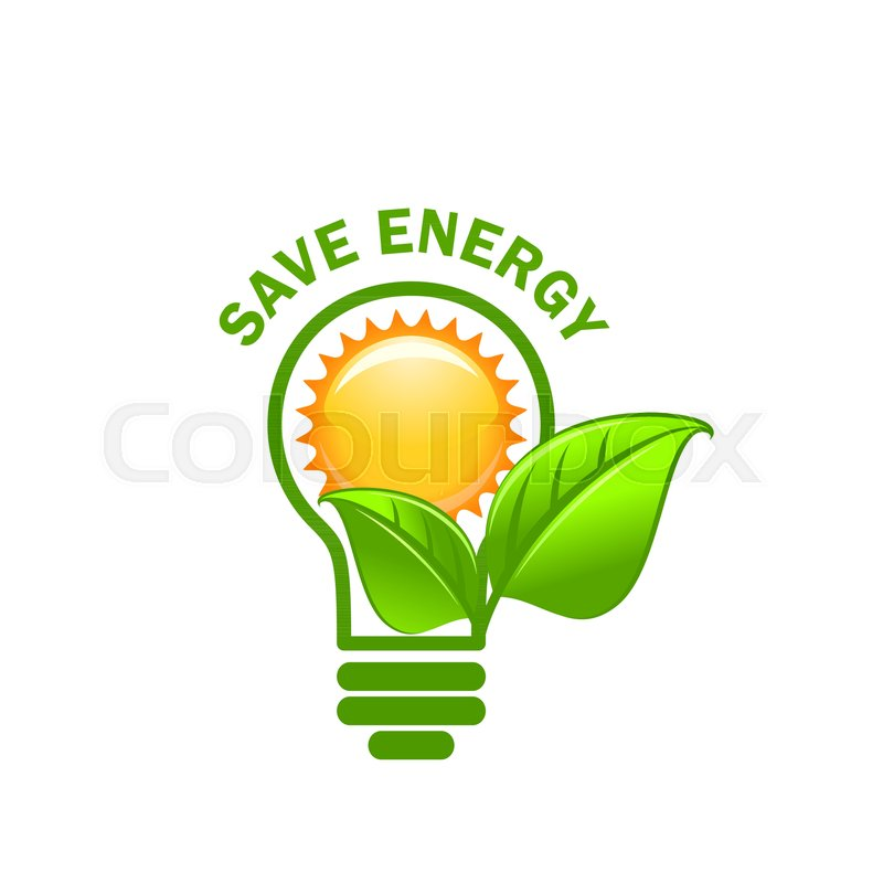 save energy symbol of alternative stock vector colourbox save energy symbol of alternative